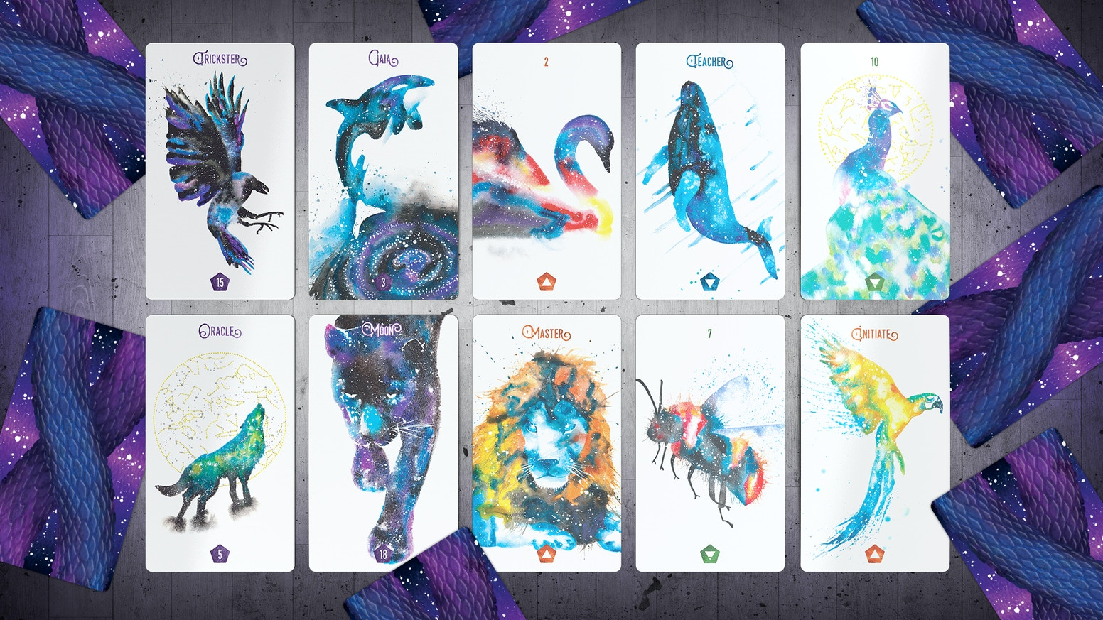 Channel the wild messages of the animal kingdom in this unique 80-card tarot deck and richly intuited guidebook.