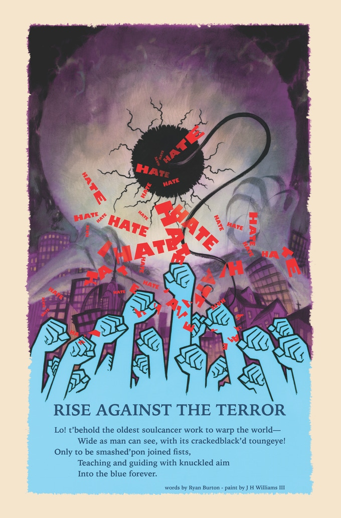 """Rise Against the Terror"" by JH Williams III and Ryan Burton"