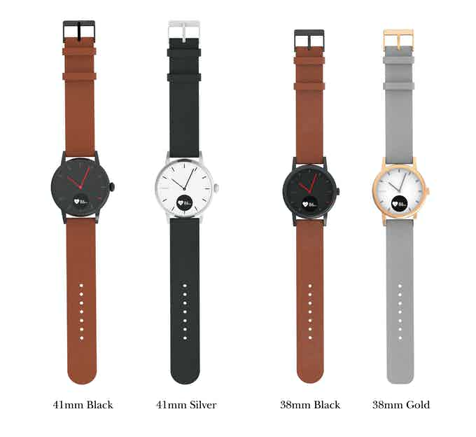 2 sizes - 38mm and 41mm. Both comes in two colour variants