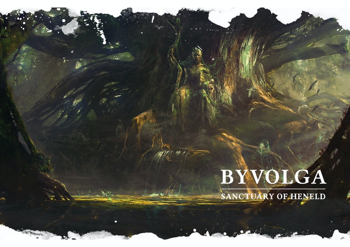 The forest arena of Byvolga with the sanctuary of its Damned Heneld