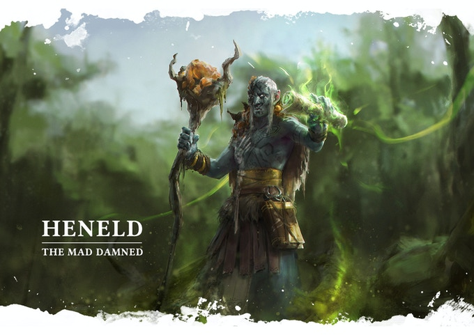 Heneld is the mad Damned, he will help you or confront you according to his mood