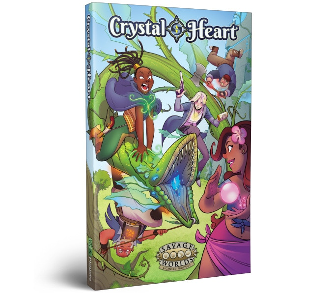 Mockup for the Crystal Heart setting book