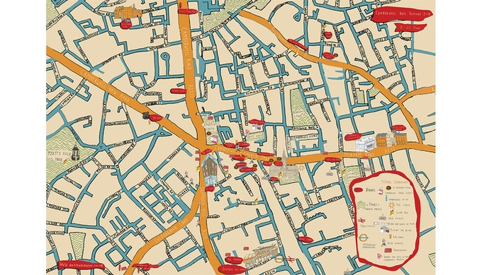 Camberwell Festival Map 2012