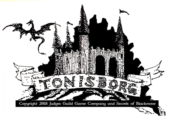 Old School Fantasy Artwork from Tonisborg Dungeon Deluxe Edition Book
