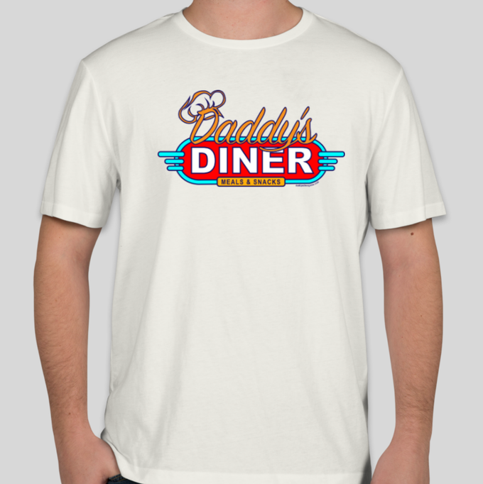 Daddy's Diner Game T-Shirt (white)