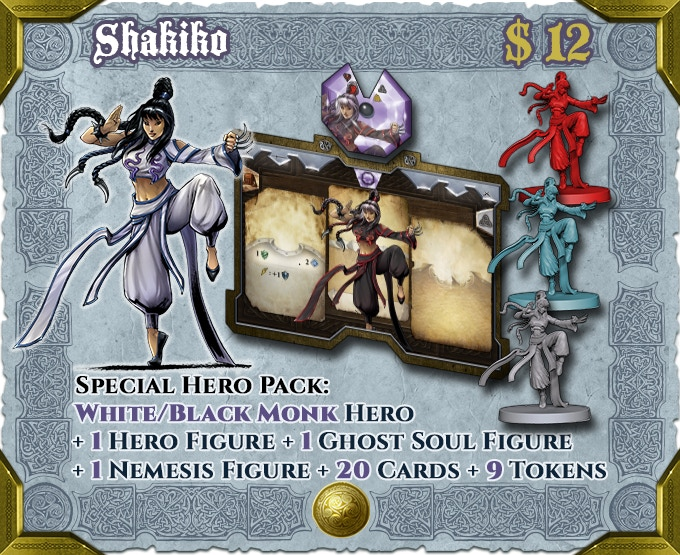 Shakiko can be played as either Law or Chaos, alone or together with Genryu