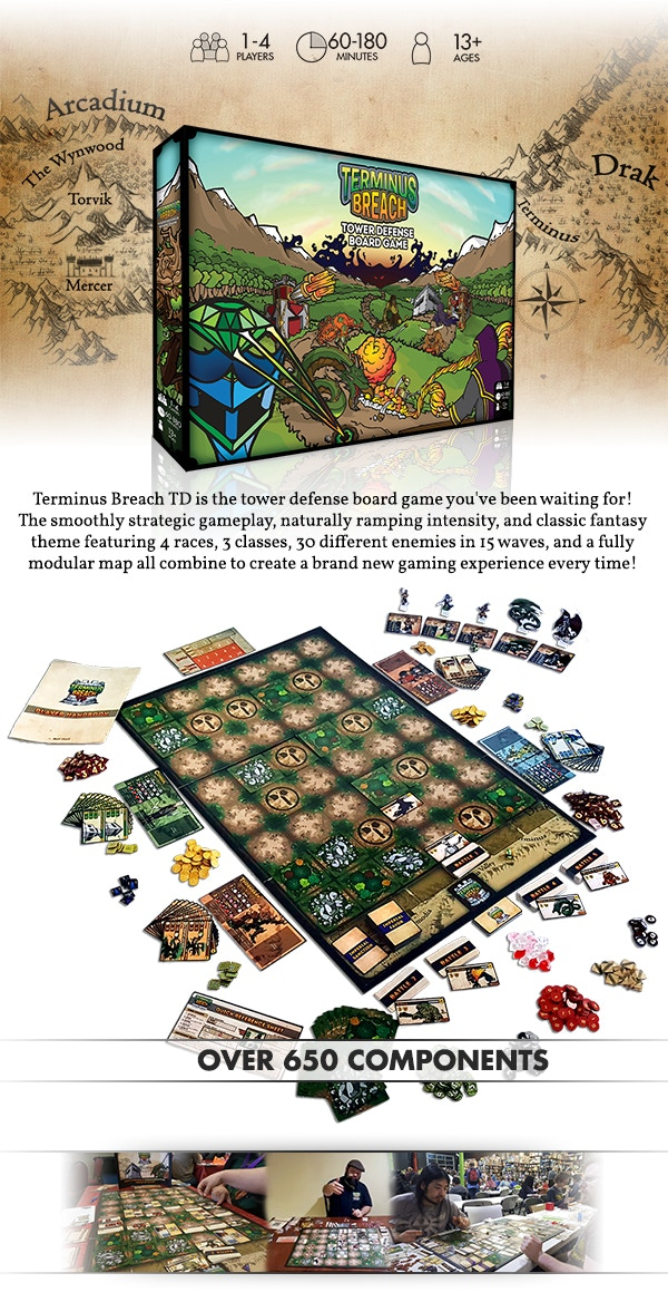 Terminus Breach TD - The Tower Defense Board Game