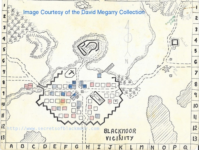 Is this the earliest town map made for an RPG? It is!