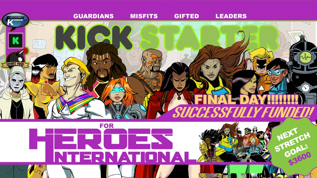 Heroes International - Ongoing Comic Book Series project video thumbnail