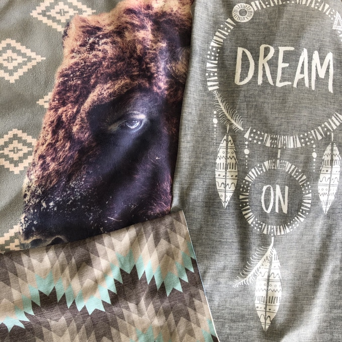 Holden & Hay Weighted Blanket & Halcyon Pillow print designs