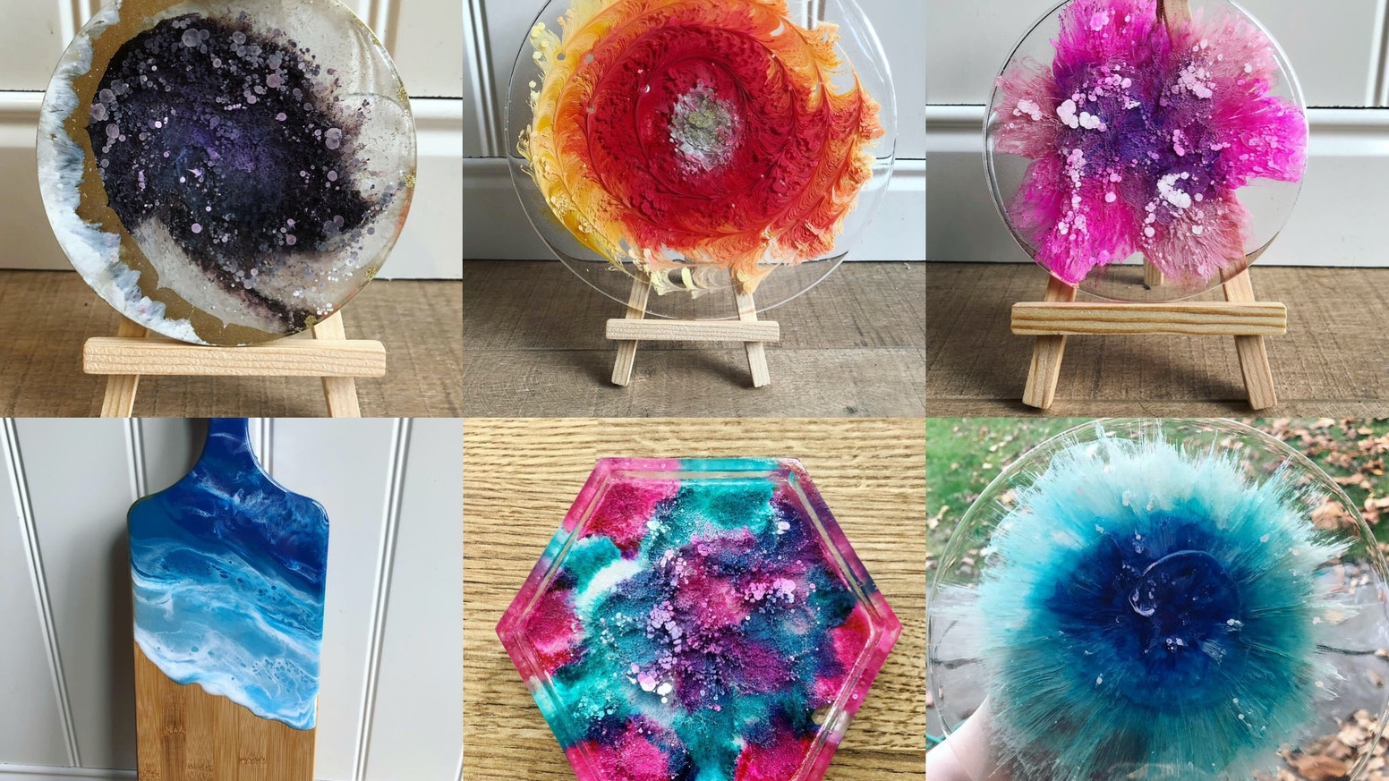 Abstract Resin Art Handmade with Love (and Perseverence) by