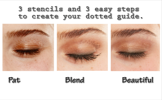Miné Stencils patent pending technology helps eliminate the guesswork in makeup application with eye shadow stencils for easy to blend eye shadow dotted ...