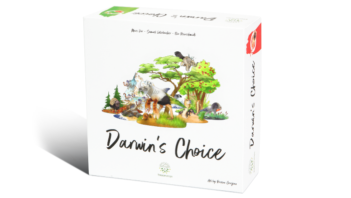 Create your own species from over 230 hand-painted animal cards, guide them through the ever-changing eras and become Darwin's Choice.