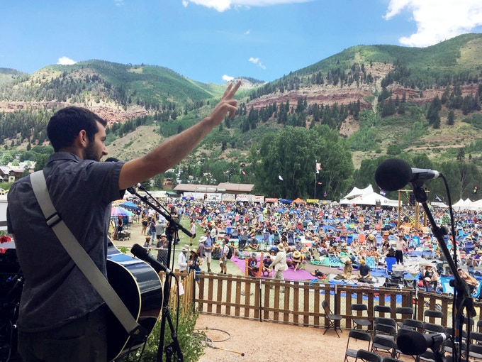 Playing the main stage at Telluride Bluegrass Festival this summer was an unforgettable experience.