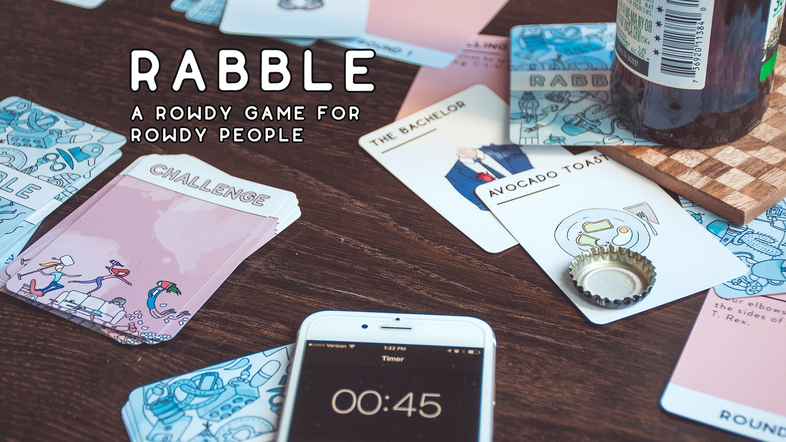 Guess absurd words. Do ridiculous challenges. Rabble is a party game that makes any night a rowdy night.
