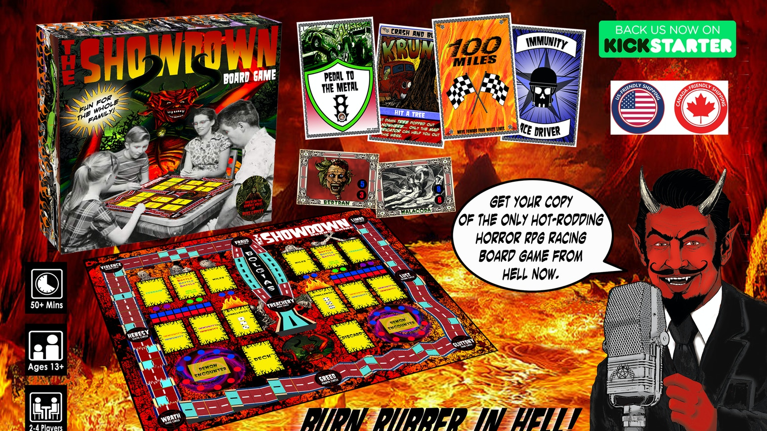 2 - 4 players race around nine circles of Hell where not only is your pride on the line, but so is your soul...