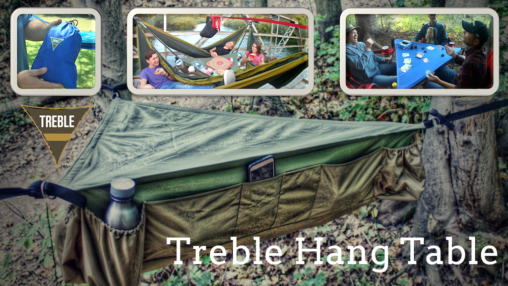 Hanging Outdoor Table - Holds 300lbs - Fits in a 9 inch bag! project video thumbnail