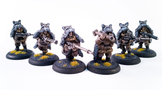 The special weapons team. From regular raiding, the wolfskins have acquired a huge range of weapons 22$ add on