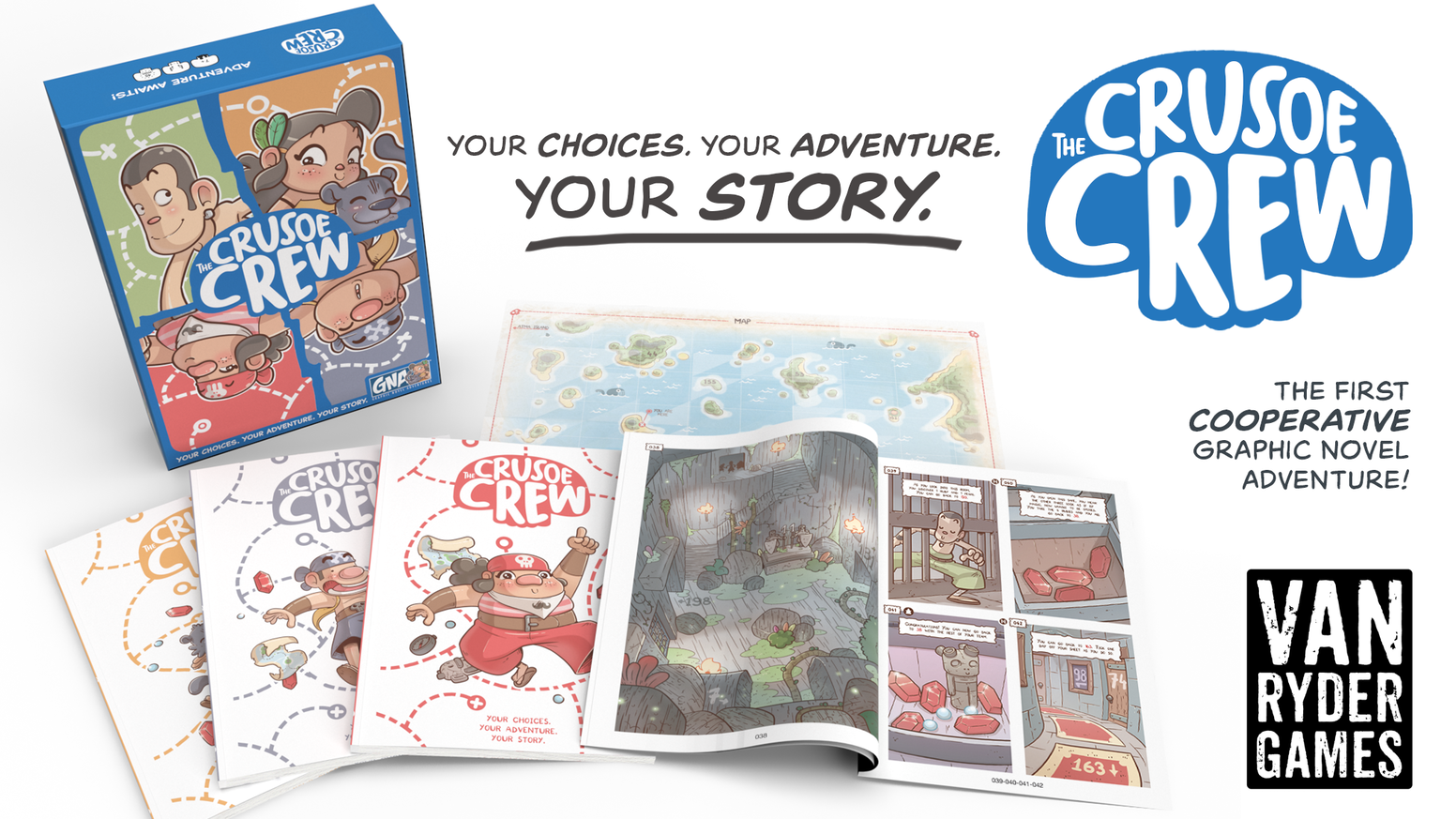 A cooperative Graphic Novel Adventure game for 1-4 players.