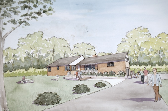 Rendering of the restored home.