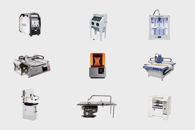 A selection of FAB9's machines