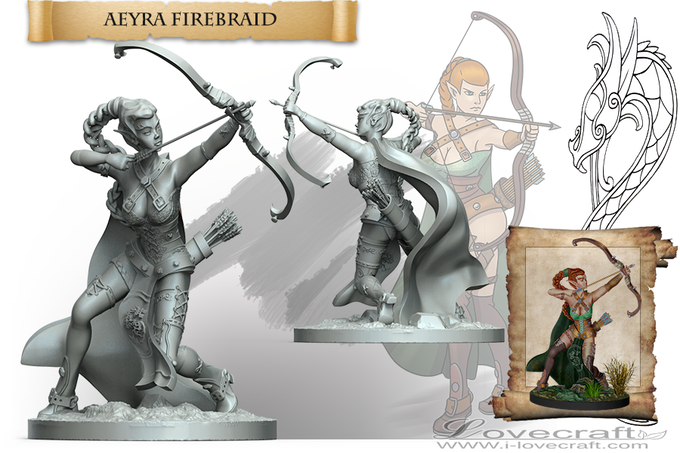 Riders Of The Storm: Elves, Dwarfs Miniatures and Dragons by Iain