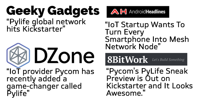 Pylife and PyGo - the most connected device in the world by