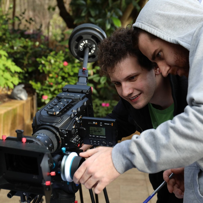 """Director Alexander Lorian with AC Jacob Abercromby on """"Love at First Sight"""""""