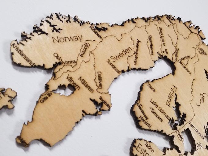 "Europe (23"" x 35""), Zoom Detail"