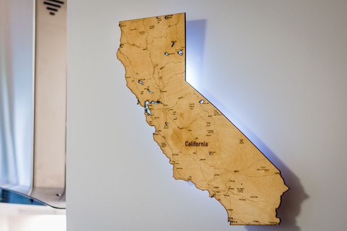 """California with Backlit LED (23""""x35"""")"""