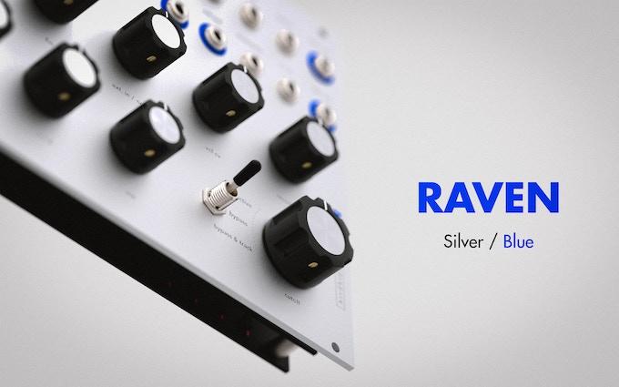 RAVEN, Silver / Blue