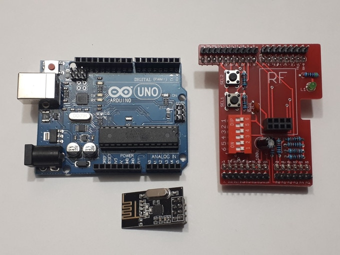 The NRF24L01+ Arduino Wireless Transceiver Shield + MORE! by
