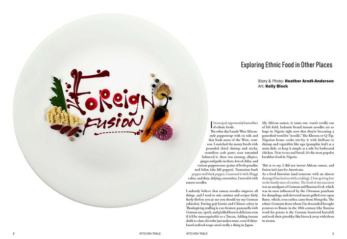 (Magazine spread: Heather Arndt-Anderson and Kelly Block)