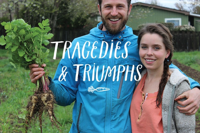 (Magazine image: Old Soul Farmers Kris and Alisha)