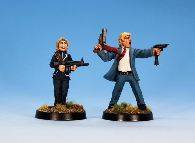 Hillary and Donald as Zombie Hunters...