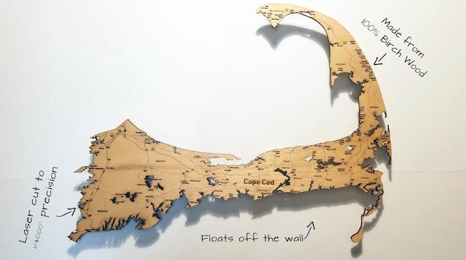 "Cape Cod, Massachusetts (18"" x 24"")"