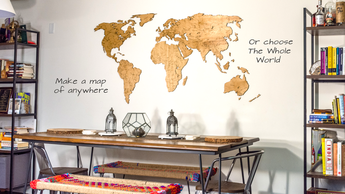 """Extra Large Map of the World (36"""" x 72"""")"""