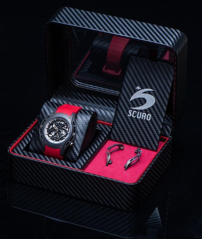 Custom made premium quality carbon fiber fabric packaging.