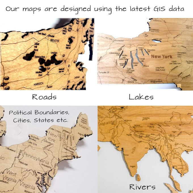 Features included in our maps