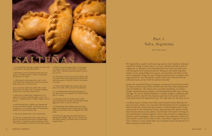 Salty magazine preview (Saltenas recipe)