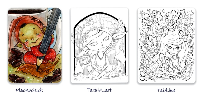 A6 print & A4 coloring book pages