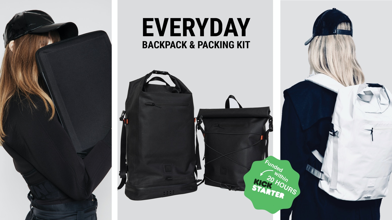 Simplicity made right. One backpack and tailored packing solution for work and leisure time designed with focus on what is essential.