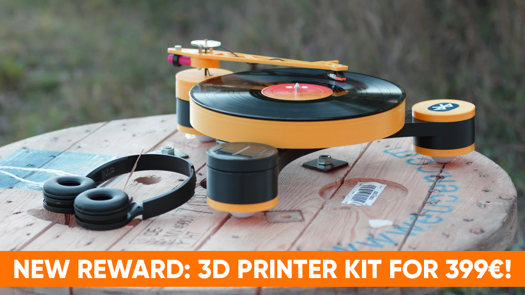 Lenco-MD: World's first 3D Printed, modular record player project video thumbnail