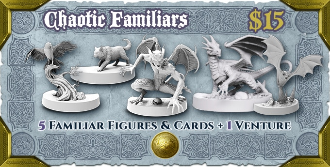 Familiars to travel together with your Chaotic Heroes. Mischievous, but useful allies!