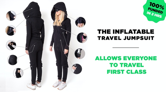 89486eecd World's best travel wear, with first of its kind inflatable hood & neck  pillow,