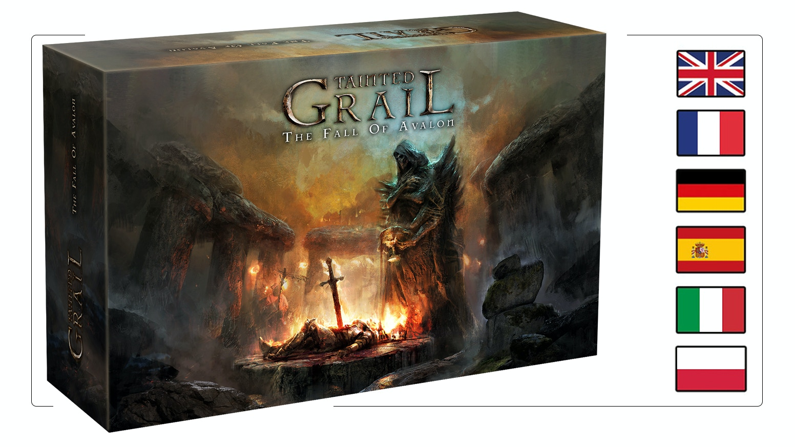 Adventure, survival co-op Board Game set in unique grim world inspired by Arthurian Legends. Unforgettable experience for 1-4 players