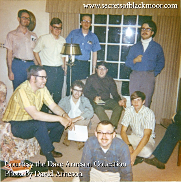 Is this a photo of members of the Blackmoor Bunch in Dave Arneson's Living Room, 1971?  It is!