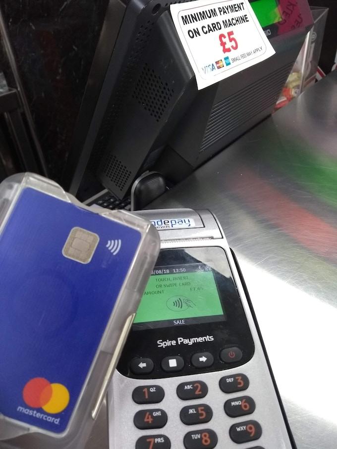 Protected bank card