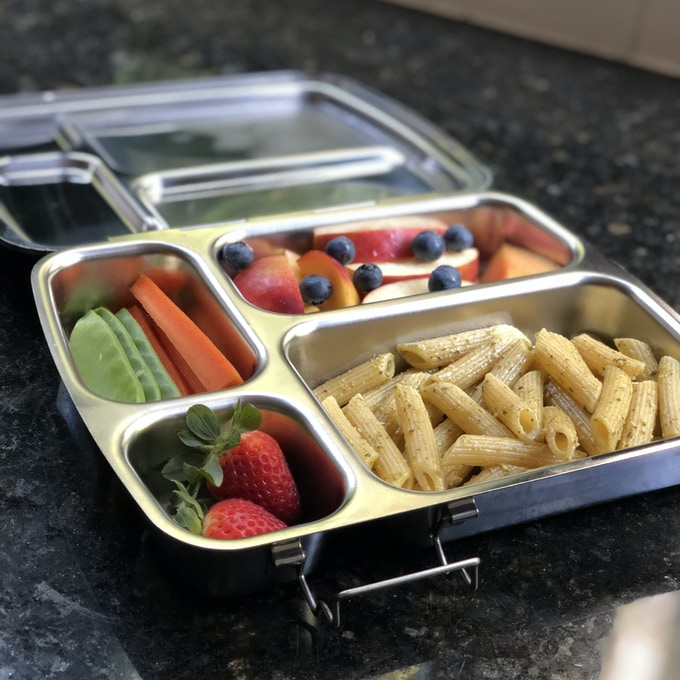 Archie's first home-packed lunch in the new box!