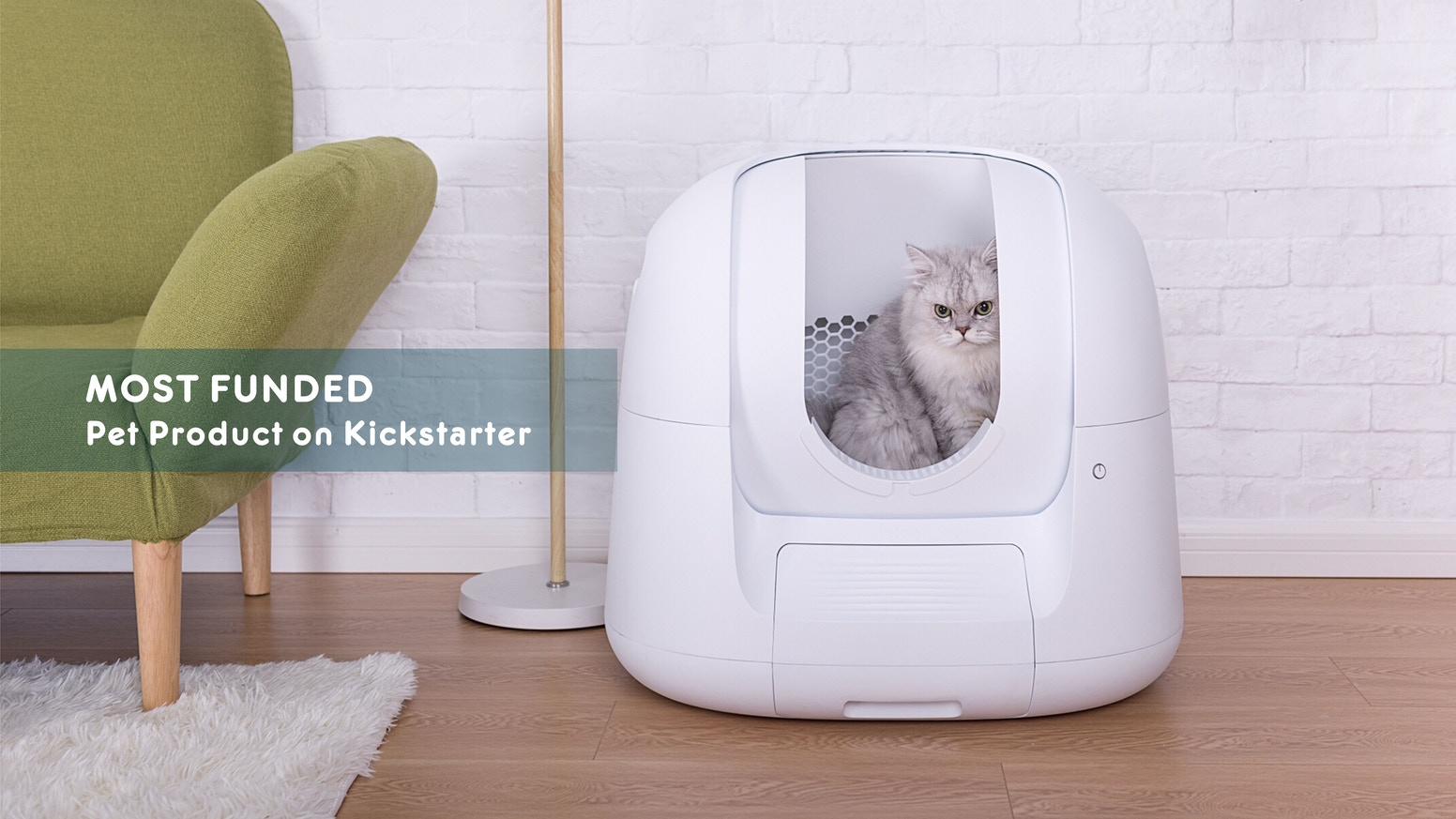 Robust Self-Cleaning Litter Box ▪ Health Data ▪ A.I. Powered ▪ Cat-Centric Design ▪ Elegant & Ergonomic ▪ Smart Alerts ▪ Deodorizing